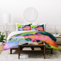 CayenaBlanca Ink Splashes Duvet Cover