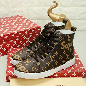 Louis Vuitton X Supreme Fashion Casual Sneakers Sport Shoes-9