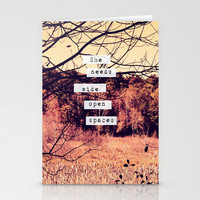 Wide Open Spaces II Stationery Cards by Rachel Burbee | Society6