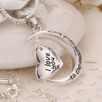 Jewelry New Arrival Shiny Gift Stylish Fashion Accessory Gifts I Love You Couple Hot Sale Necklace [7831853511]