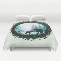 Horse Trail Duvet Cover by NickHarriganArtwork | Society6