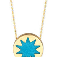 House of Harlow Mini Sunburst Pendant- Turquoise