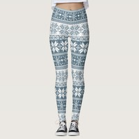 Choose Any Color Winter Fair Isle Pattern Leggings