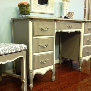 Chic Dixie French Provincial Vintage Desk & Chair