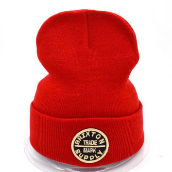 Brixton Women Men Embroidery Beanies Warm Knit Hat Cap