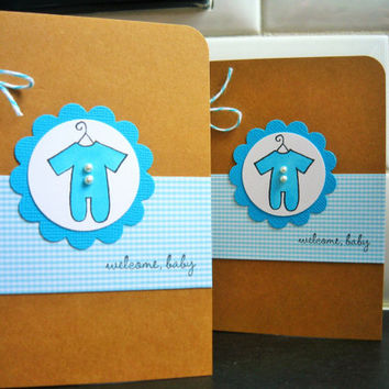 Welcome New Baby Card, Baby Shower Card, Welcome New Baby Boy