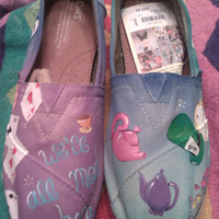 Whimsical Wonderland hand painted TOMS
