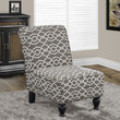 "Brown "" Bell Pattern "" Fabric Traditional Accent Chair"