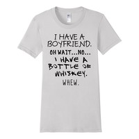 Funny Anti Valentine Tee Bottle of Whiskey from Scarebaby
