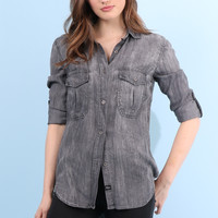 Rails Marlow Button Down - Charcoal
