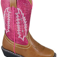 Smoky Mountain Boots Toddler Girls Austin Lights Pink/Tan Faux Leather, 7M