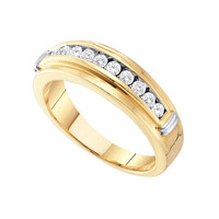 Diamond Mens Fashion Ring in 14k Gold 0.5 ctw