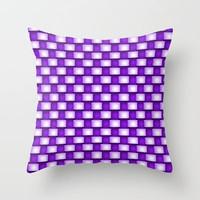 Purple Weave Throw Pillow by Alice Gosling