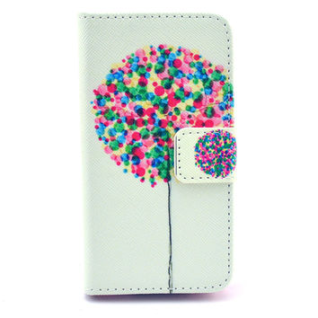 Balloon Print Leather creative case Cover Wallet