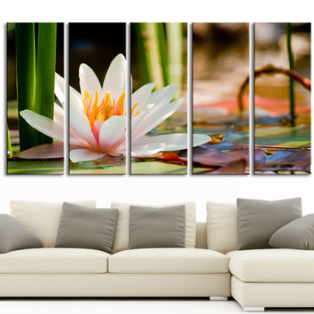 Wall Art Water Lily Large Canvas Print art,home Decor, Ready to Hang, Calla Canvas Prints wall decoration, original canvas printing