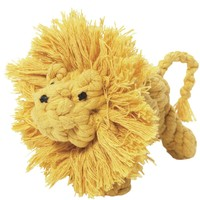 Jax and Bones Large Larry the Lion Good Karma Rope Dog Toy, Dog Chew Toys, Puppy Dog Toys