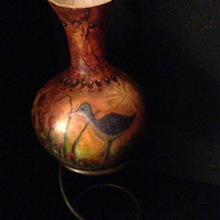 Gourd; water color; oil pastel; other; small gourd