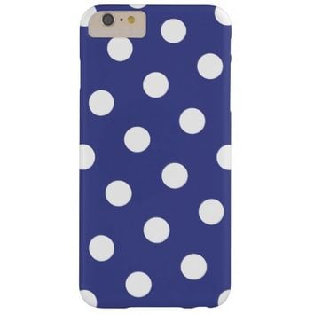Royal Blue and White Polka Dots Barely There iPhone 6 Plus Case
