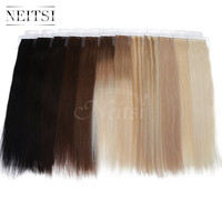 Neitsi 5A Ombre Virgin Remy Hair Skin Weft Hair US Tape In Human Hair Extensions Straight Wefts 16 20 22inch 12 Colors Available