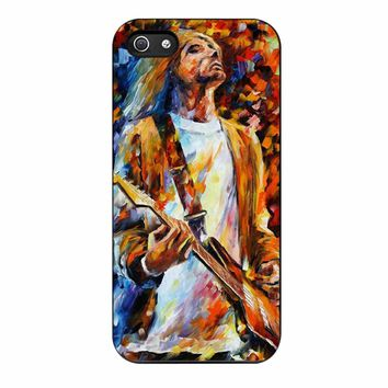 Vintage Classic Rock N Roll Collection Grunge Icon Nirvana Kurt Cobain Painting iPhone 5/5s Case