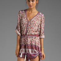 Spell & The Gypsy Collective Gypsy Love Playsuit in Berry from REVOLVEclothing.com