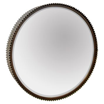 Three Hands Industrial Metal Mirror - 23-in