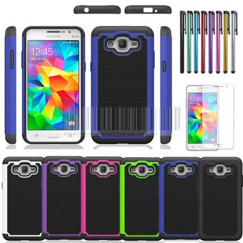 Rugged Armor Hybrid Case Cover + LCD For Samsung galaxy Grand Prime G530 G530H G530FZ G5308W G5308 G530M S920C
