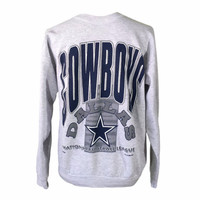 1992 Dallas Cowboys Sweatshirt, Vintage 90s NFL Dallas Football Team Clothing, Retro Sports Hip Hop Streetwear, Small Medium