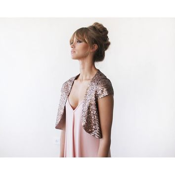 Evening Collection - Bronze sequin Bolero Jacket
