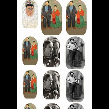 Nail Decals  Frida and Diego