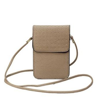 Neutral Stud Crossbody Purse/Cell Phone Carrier