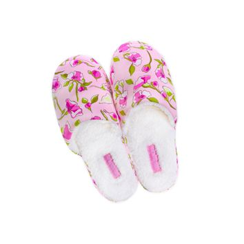 Soft Floral Spa Slippers