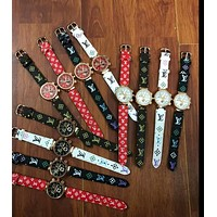 Louis Vuitton More Print Multicolor men's and women's fashion watches B-JYXCX-YB Colorful