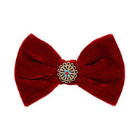 Velvet Bow Hair Clip - Hair Accessories  - Bags & Accessories