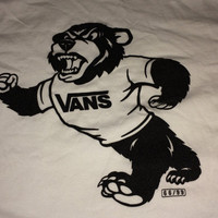 Sale!! Vintage VANS Built Strong Cali Casual White T-shirt street wear tee