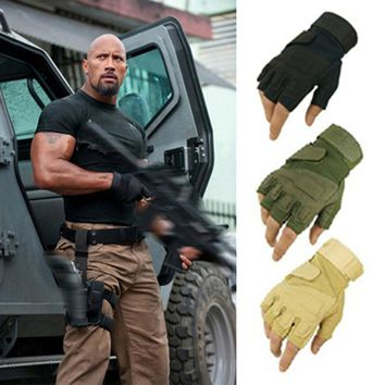 Blackhawk tactical gloves USA hell storm special forces slip mountaineering fitness outside fighting half- finger Leather gloves