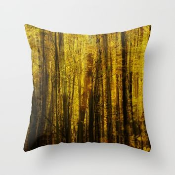 Forest Fuzz Throw Pillow by Claude Gariepy