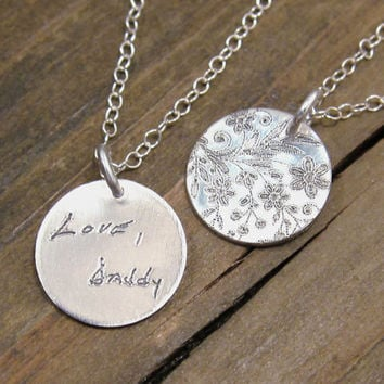 Personalized Necklace - ACTUAL Handwriting Jewelry -  Memorial Jewelry - Bridesmaid Gift