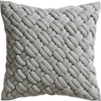 "Jersey Interknit 20"" Pillow With Down-alternative Insert"