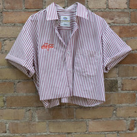 Pinstriped Coke Work Shirt