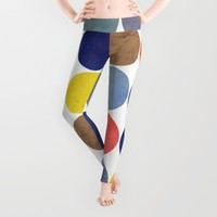 Round and Round Leggings by Miss L In Art