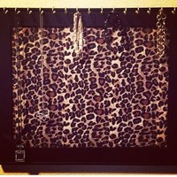 Framed Leopard Print Jewelry Necklace Earring Board Organizer from Bowlicious Divas Bowtique