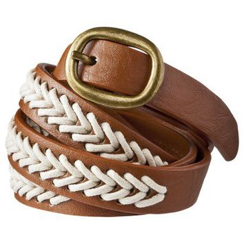 Mossimo Supply Co. Rope Chevron Stitch Belt - Brown