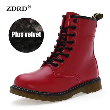 Women Boots Doc Martins 2016 British Dr Martins Vintage Classic Martin Boots Female Th