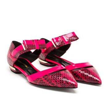 NICHOLAS KIRKWOOD | Python Skimmers with Bow Detail | Browns fashion & designer clothes & clothing