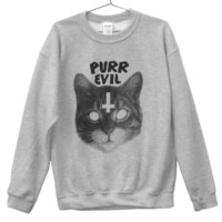 Purr Evil Unisex Sweatshirt (ATTN: notate SIZE during checkout)