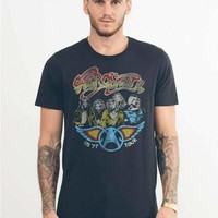 Junk Food Mens Aerosmith US 77 Tour Tee Shirt