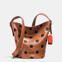 Mini Duffle in Saddle Dot Leather