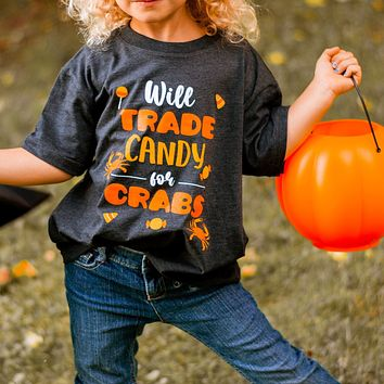 Will Trade Candy For Crabs (Vintage Smoke) / *Toddler* Shirt