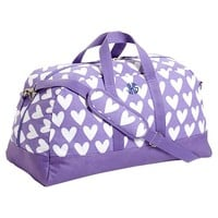 Sleepover Duffle Bag, Purple Sweethearts